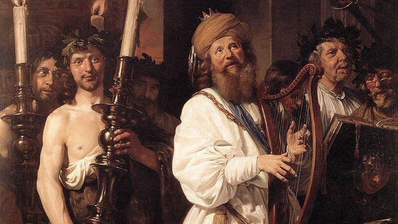 Давид хĕлĕхли калать. Jan de Bray, 1670.