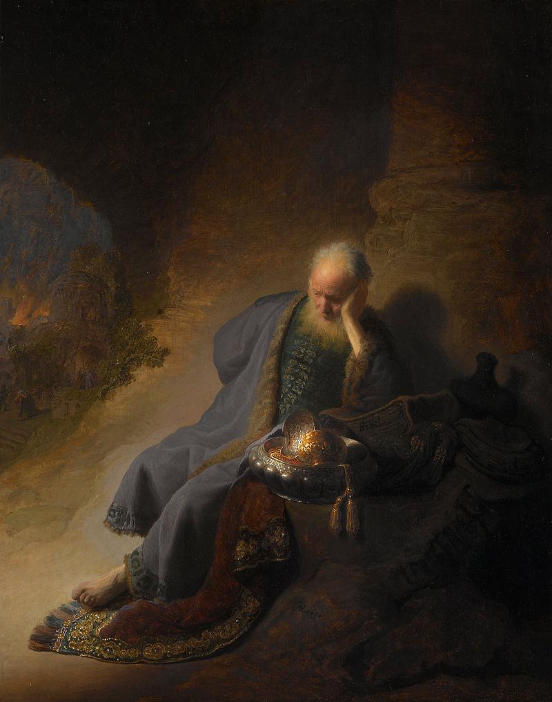 800px-Rembrandt_Harmensz._van_Rijn_-_Jeremia_treurend_over_de_verwoesting_van_Jeruzalem_-_Google_Art_Project
